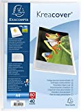 EXACOMPTA 5748E - Un Porte vues personnalisable Chromaline 80 vues 21x29,7 cm avec couverture polypro semi-rigide CRYSTAL