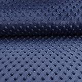 Tissu Minky Ultra doux Pois Bleu nuit - Par 50 cm