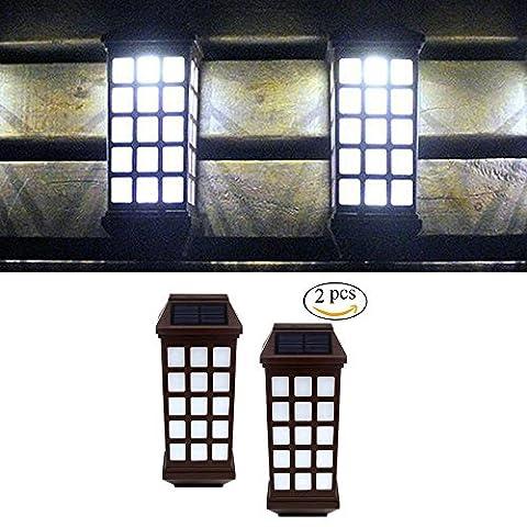 Solar Lights Outdoor, niceEshop(TM) Outdoor Fence Lights, Wireless Waterproof LED