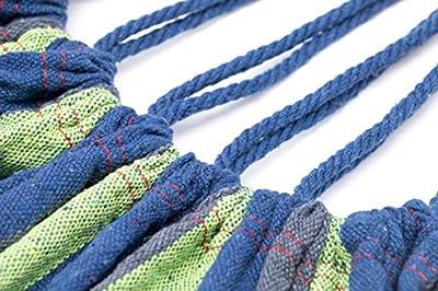 Zollner Hängematte aus Baumwolle und Polyester, ca. 150x210 cm, Rot Oder Dunkelblau, mit 2m Seil, Serie Peru von ZOLLNER bei Gartenmöbel von Du und Dein Garten
