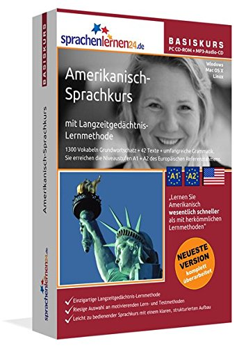 Preisvergleich Produktbild Sprachenlernen24.de Amerikanisch-Basis-Sprachkurs: PC CD-ROM für Windows/Linux/Mac OS X + MP3-Audio-CD für MP3-Player. Amerikanisch lernen für Anfänger