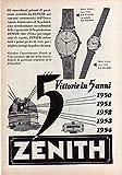 Orologio Zenith modello Oro Pubblicità Advertising del 1955