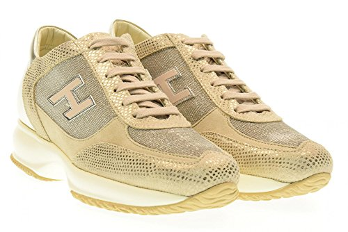 HOGAN scarpe donna sneakers basse HXW00N03242FOQ0H04 INTERACTIVE Oro
