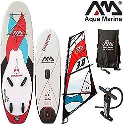 """Aqua Marina CHAMPION 9'9 """" Planche à voile COMBO / Bande réfléchissante thermocollante Thermofusible Planche à voile et Stand Up Paddle pour / gonflable"""