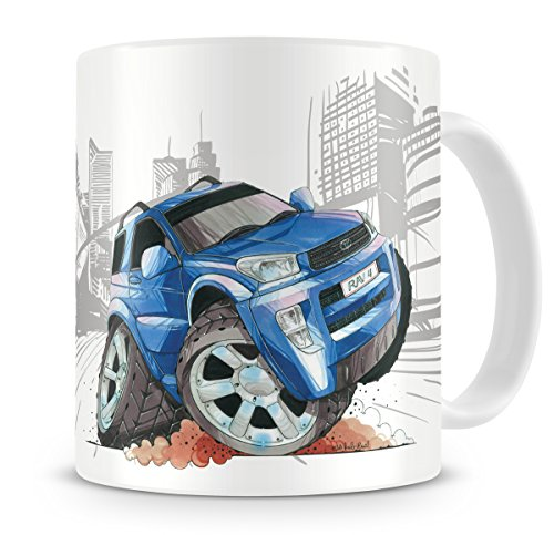 koolart-cartoon-caricature-of-toyota-rav4-coffee-mug