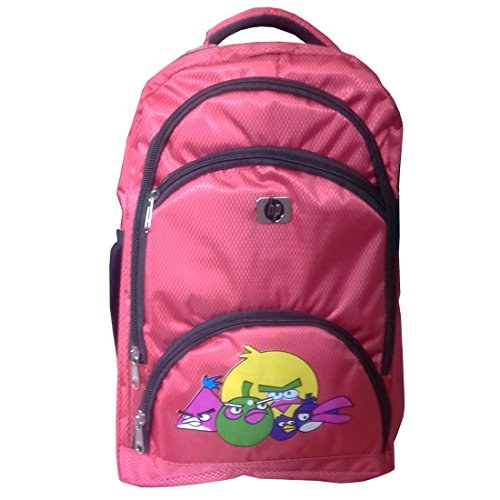 Rose Bud Angry Birds Cartoon Print Stylish Red Color (10-15 Lts/13 inch/4-6 years) 5 Compartment Shoulder Strap Padding Polyester Backpack School Bag for Nursery and Junior School Girls and Boys Students (Doraemon, Chota Bheem, Ben 10, Barbie, Motu Patlu, Cinderella Princess, Sponge Bob, Honey Bunny, Subway Surfers, Micky Mouse, Bugs Bunny, Tweety, Goofy, Tom, Jerry, Donald duck, Snow White etc)  available at amazon for Rs.425