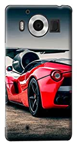 Mott2 Back Case for Microsoft Lumia Lumia 950 | Microsoft Lumia Lumia 950Back Cover | Microsoft Lumia Lumia 950 Back Case - Printed Designer Hard Plastic Case - Ferrari theme