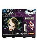 Horror-Shop 7-teiliges Joker Make-up Set mit Perücke für Halloween & Karneval