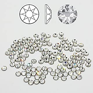 SWAROVSKI® Kristalle 2078 HotFix SS16 (ca. 3.9mm) 100 Stück zum aufbügeln Crystal Clear Glitzersteine Schmucksteine Bastelsteine