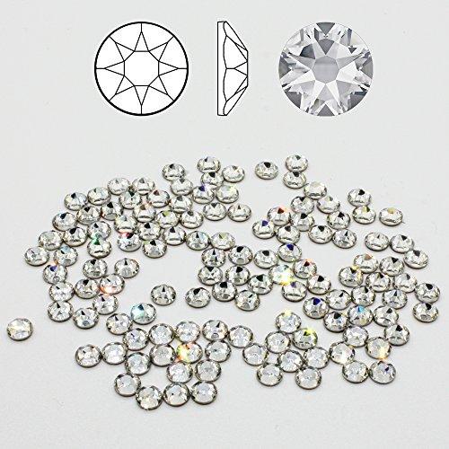 100 Stück SWAROVSKI 2078 Strass-Steine ø 5mm SS20 Hotfix zum aufbügeln Crystal Clear Glitzersteine Schmucksteine Bastelsteine