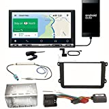 Sony XAV-AX3005DB CarPlay Android Auto Digitalradio DAB+ USB Autoradio Touchscreen Bluetooth Moniceiver Einbauset für Golf 5 6 Passat 3C CC B7 Touran