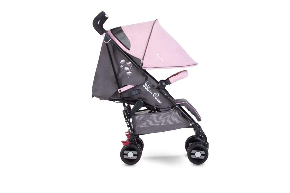 Silver Cross Pop Star Dancing Daisy Silver Cross Suitable from birth to a maximum weight of 25kg Fully extendable, ventilated hood for ultimate sun protection; rain cover included Wide seat and tall back rest for growing little girls and boys 1