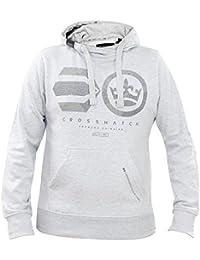 New Mens Crosshatch Brand Logo Printed Pullover Hoodie Jumper Sweatshirt Top