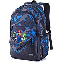 Super Mario Modelos de Pareja Mochila Multifuncional de Diseño Escolares Popular Mochila de Viaje Mochila para