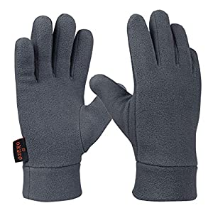 OZERO Winterhandschuhe,Thermo Polarfleece Handschuhe für Hände Warme Halten bei Radfahren,Garten Aarbeit und Lauf,für Herren und Damen