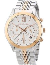 Michael Kors MK5763 - Reloj cronógrafo de cuarzo para mujer, correa de acero inoxidable multicolor