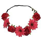 3079c037c260bd Blumen Stirnbänder, TTWOMEN Damen Boho Headwrap Twist Knoten Haarband Beach  Party Turban Haar Zubehör (Rot)