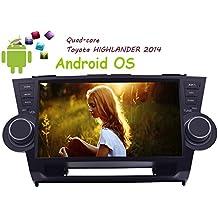 Pantalla Pure Android 4.4 10 pulgadas capacitiva multi-táctil de navegación GPS radio de coche para Toyota Highlander 2008-2014 táctil Receptor Bluetooth Monitor de audio USB SD de vídeo estéreo del coche FM AM Autoradio unidad principal NO-DVD Espejo vincular BT