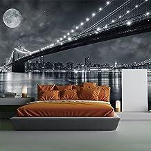 Puente de Brooklyn Nueva York Fotomurales Blanco y Negro murales pared Cuarto Decoración Disponible en 8 Tamaños Extra pequeño Digital