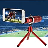 XCSOURCE® 18X Zoom HD Teleobjetivo Telescopio Cámara + Mini Trípode + Fundas para iPhone 6/6 Plus / 6s / 6s Plus / 7/7 Más DC775