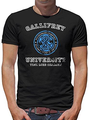 TLM Gallifrey University T-Shirt Herren XL (University Billig Kostüme Halloween)