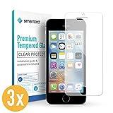 smartect Panzerglas kompatibel mit iPhone SE / 5 / 5s / 5c [3 Stück] - Displayschutz mit 9H Härte - Blasenfreie Schutzfolie - Anti Fingerprint Panzerglasfolie