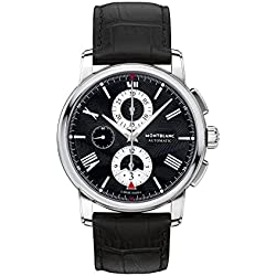Montblanc Men's 4810 43mm Black Alligator Leather Band Steel Case Automatic Analog Watch 115123