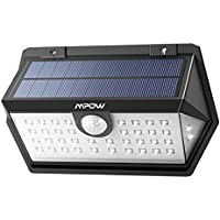 Mpow 3 Modes Motion, New Generation of Security, 40 Enhanced LEDs for High, IP65 Waterproof, Improved Solar Panel, Bright Wall, 120° Wide-Angle Sensor, Outdoor Light for Yard, Driveway, Garage, Pathway and Patio,