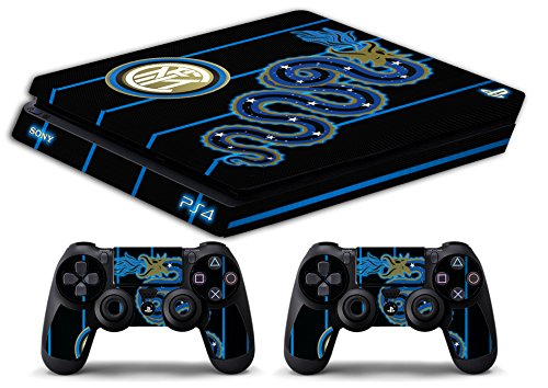 Skin Ps4 SLIM - FC INTER ULTRAS CALCIO - limited edition DECAL COVER ADESIVA Playstation 4 Slim SONY BUNDLE