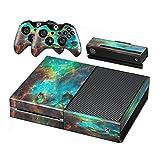 Stillshine Xbox ONE Design Folie Aufkleber für Konsole + 2 Controller + Kamera Sticker Skin Set (Starry Green)