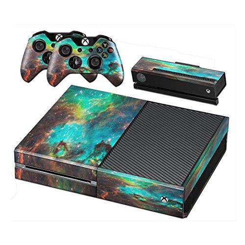 dotbuy Xbox One selbstklebend Konsole Decal Vinyl Skin Sticker + 2selbstklebend Controller + 1selbstklebend Kinect Set grün Starry Green -