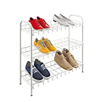 Metaltex 36.55.03, 3-Tier Shoe Rack, Metal, White, 64 X 23 X 59 Centimeters