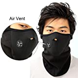 #7: Neoprene Half Face Bike Riding Mask (Black)