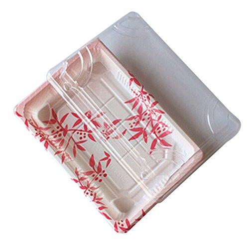 Black Temptation Set von 50 Einweg-Sushi-Tray Patterned Sashimi Box mit Deckel [B]