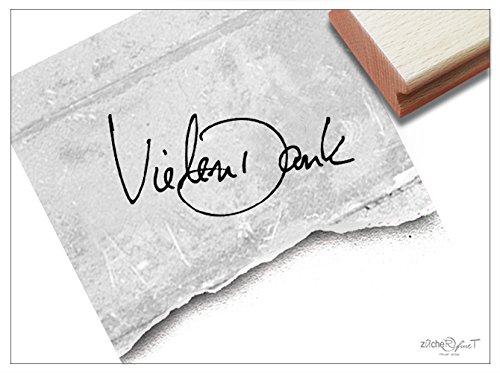 Stempel: Kleiner Schriftstempel VIELEN DANK handschriftlich - Toller Schriftstempel für kleine Aufmerksamkeiten von zAcheR-fineT-design