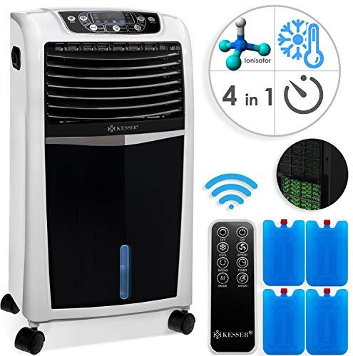 KESSER® 4in1 Mobile Klimaanlage   Fernbedienung   Klimagerät   Ventilator Klimaanlage   8 L Wasser/Eis Tank   Timer   3 Stufen   Ionisator Luftbefeuchter   Luftkühler Weiß - Stufe 3 Wasser