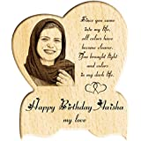 [Sponsored]Engraveindia Personalize Birthday | Anniversary | Special Unique Gift - Wooden Engraved Photo Plaque/Photo Frame