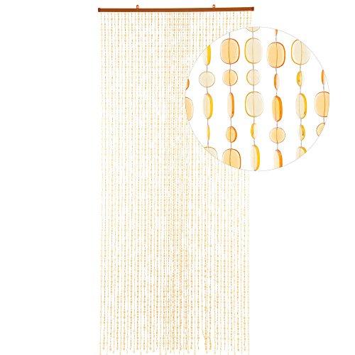 HAB & GUT -DV0224- Türvorhang OVAL, GELB/ORANGE, 90 x 200 cm