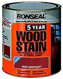 Ronseal 5YWSDM25L 2.5L 5 Year Woodstain - Dark Mahogany