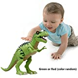 (DE Stock) Smibie Elektrische Tyrannosaurus Dinosaurier Spielzeug mit Lichter klingt Reale Reale Bewegung Kinder Spielzeug Grün (Farbe zufällig)