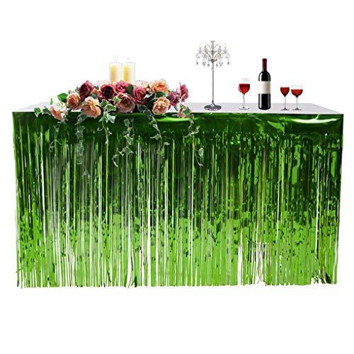 Fringe Foil Table Rock Tinsel Tabelle Vorhang für Luau Party-Geburtstags-Sommer-Jahrestag Weihnachten Tischdekoration ()