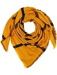Cache Cache FOPLABIGCAR, Châle Femme, Jaune (Golden Yellow 192), Unique ( f39bf1b0077