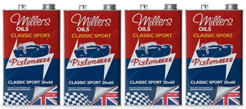 Millers Classic Sport 20W60 Olio Motore Semi Sintetico, 20 Lit