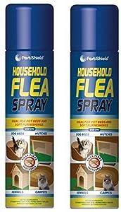 2x Household Flea Aerosol Spray Animal Flea Killer Dog Cat Tick Protection 200ml by Wilsons_Direct