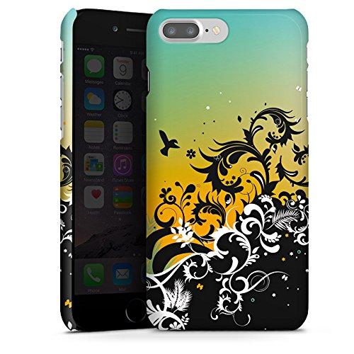 Apple iPhone X Silikon Hülle Case Schutzhülle Sonnenuntergang Flower Ornament Premium Case glänzend