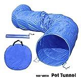 Ohana Pet XXL - Túnel de agilidad para perro, para entrenamiento de cachorro, juguete de obediencia, ejercicio al aire libre, gato