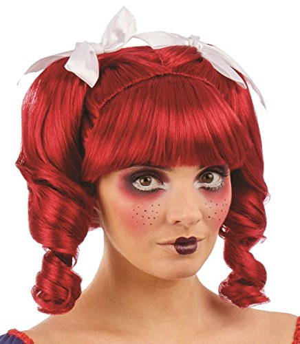 Fun Shack Damen Costume Kostüm, Doll Wig, ()