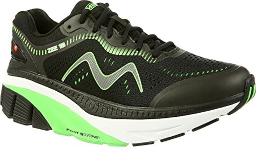 Mbt Zee 18, Chaussures De Course Pour Homme Noir / Vert