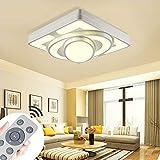 MYHOO 64W Modern LED Deckenleuchte Dimmbar Deckenlampe Wandlampe Wohnzimmer Leuchte [Energieklasse A++]