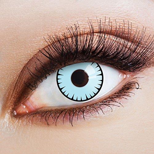 Originellsten Kostüm - aricona Kontaktlinsen Farblinsen blaue Kontaktlinsen farbig ohne Stärke hellblaue Jahreslinsen